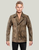 Mens Flight Distressed Vintage Leather Jacket