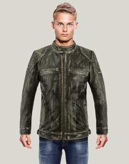 Mens Distressed Vintage Leather Jacket