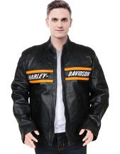Harley Davidson Lit Leather Biker Jacket for Men