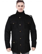 Black Flex Duck Mobility Coat For Men