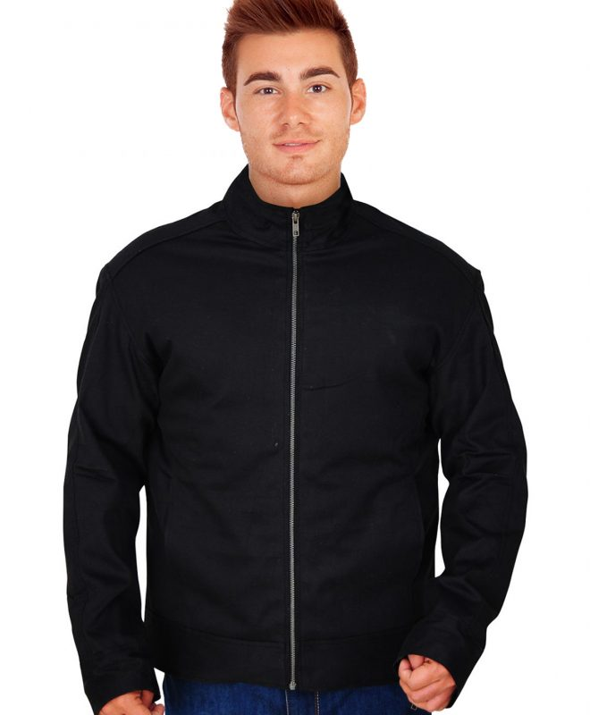Men's Victor Lightweight Black Cotton Jacket