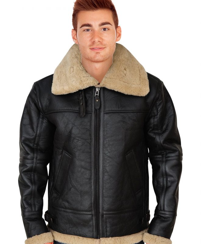 Men's Voguish Shearling Leather Jacket