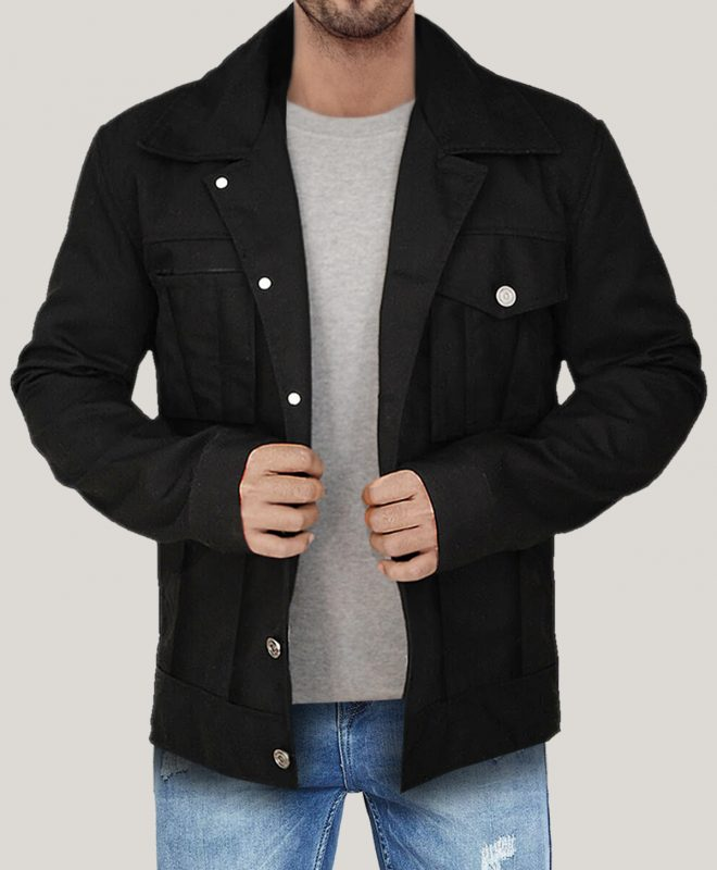 Men's Rowdy Black Cotton Jacket