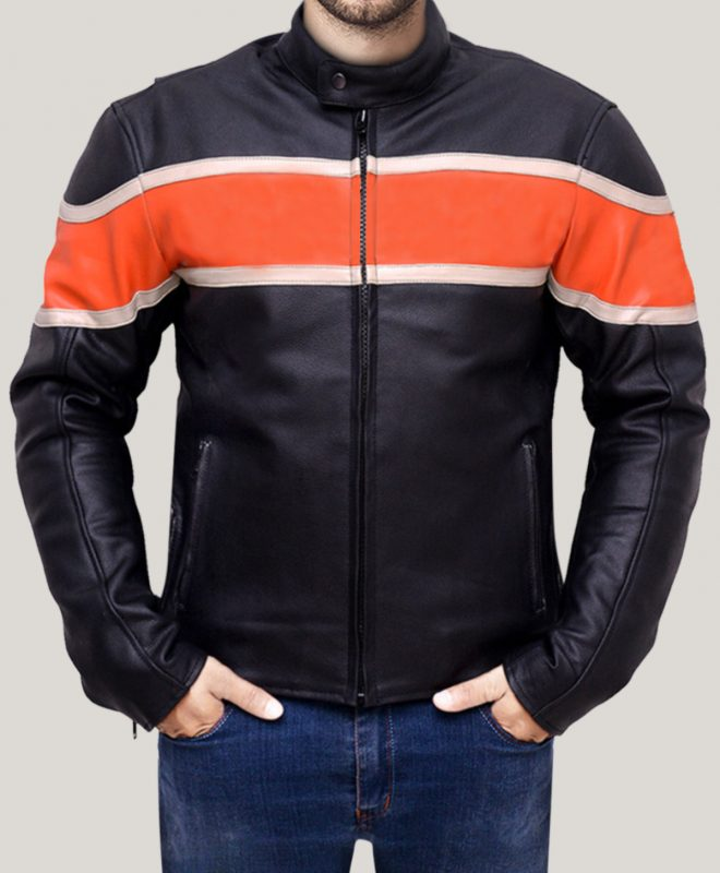 Men's Motorcycle Black Real Leather Jacket
